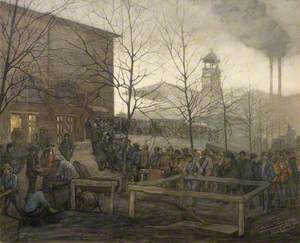 Ruhleben Prison Camp: The Queue for Bread from Denmark