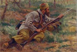 Zouave à l'attaque, la Bassée