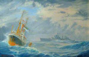 HMS 'Belfast' on Northern Patrol Captures the German Blockade Runner 'Cap Norte', 13,615 Tons, 9 October 1939