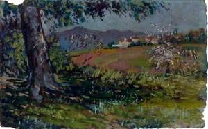Landscape with Flowering Trees