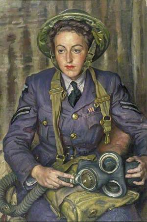 Corporal J. M. Robins, Women's Auxiliary Air Force