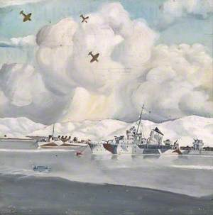 A Russian (Ex-American) Destroyer, Russia, April 1942