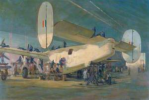 Servicing a Liberator Aircraft