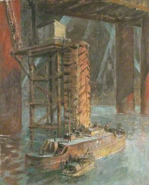 Wartime Traffic on the River Thames: Fire Services, Hungerford Bridge