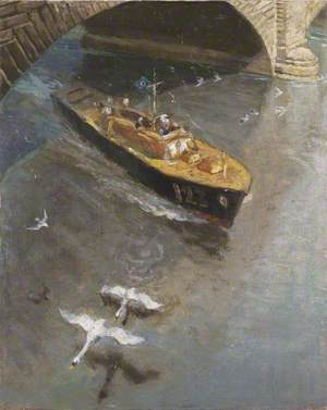 Wartime Traffic on the River Thames: Royal Air Force Sea Rescue Launch, London Bridge