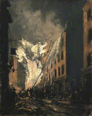 A Blazing Gas Main in Old Compton Street, London W1
