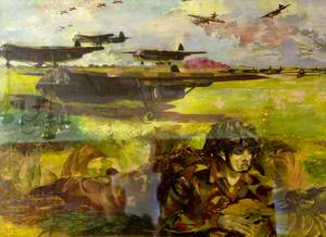 Exercise 'Mush': Gliders Land on a 'Captured' Airfield and Paratroops Surround the Field, Waiting for the Unloading of the Gliders