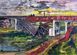 The Beginning of the Advance, France: German Bridge Demolition
