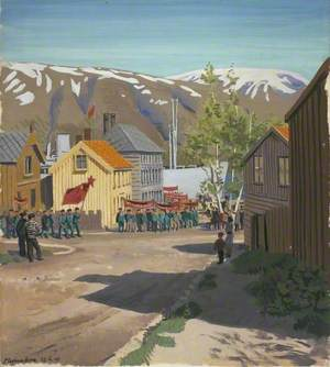 Tromsø, 22 June 1945: Russian Ex-Prisoners Marching to the Murmansk Ship