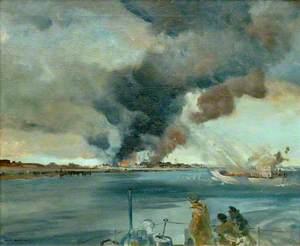 A Rocket Ship Attacking at Walcheren
