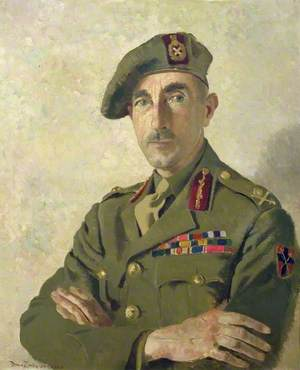 Major General E. Phillips, CBE, DSO, MC, Director of Medical Services, British Liberation Army