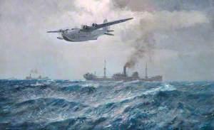 A Sunderland Flying-Boat on Patrol