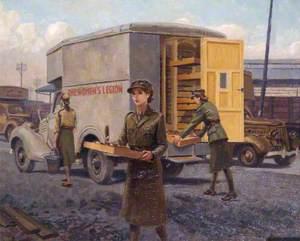 Food Van at the Royal Docks, London Women's Legion