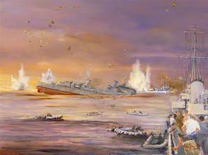 The Sinking of HMS 'Fiji', HMS 'Kingston' Standing by, 22 May 1941