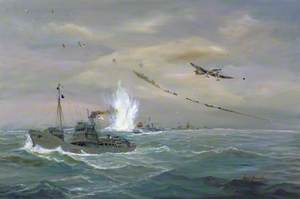 Minesweepers under Attack, Thames Estuary, October 1940