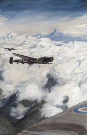 Kenya: 'Lincolns' of No. 49 Squadron Attacking Hideouts with Bombs, Mount Kenya Beyond