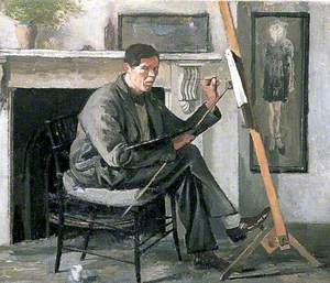 Self Portrait Seated at an Easel