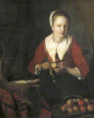 Woman Peeling Apples