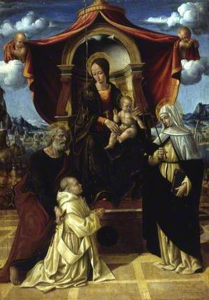 The Madonna and Child Enthroned with Saint Peter and a Carthusian Prior, and Saint Catherine of Siena