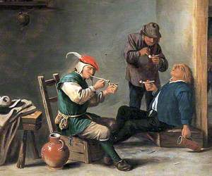 The Topers (Boors Smoking in an Interior)