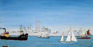 Tall Ships Race, River Medway, 24 July 1985