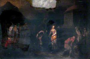 Spanish Merchant Saluting a Lady