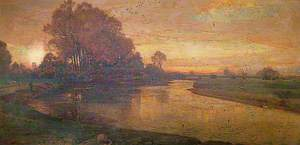 View on the Thames, Evening, When Swallows Homeward Fly