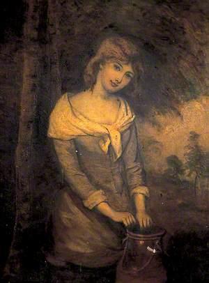 Woman with a Milk Churn