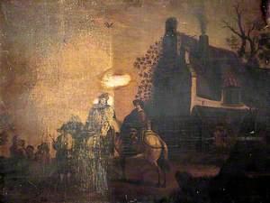 Two Figures on Horseback