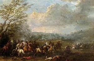 Battle Scene, Cavalry Skirmish