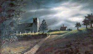 A Kentish Church in Moonlight