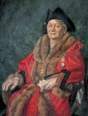 Mrs D. M. Relf, First Lady Mayor of Maidstone