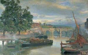 The Old Bridge at Maidstone, Kent, Looking North