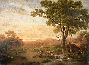 Landscape with Cattle and a Stream