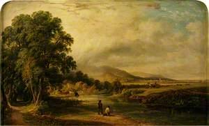 Landscape with Men Salmon Fishing
