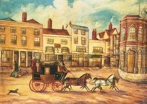 The London to Maidstone Stagecoach Passing the 'Swan Inn'