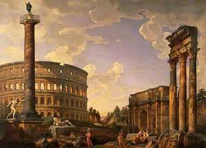 Roman Capriccio, Ruins with the Colosseum