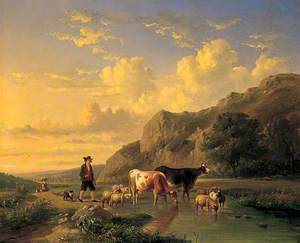 Shepherd with Animals
