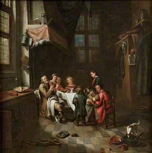 Peasants at a Table Saying Grace