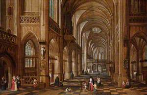Interior of a Gothic Church
