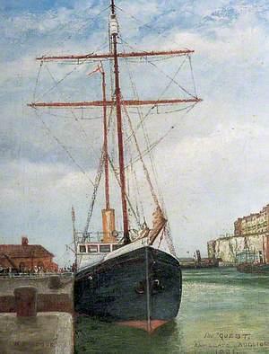 Sir Ernest Shackleton's Ship 'Quest' in Ramsgate Harbour, Kent