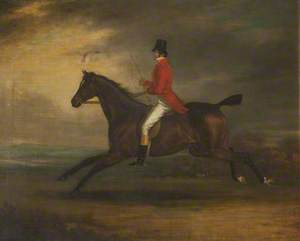 Count D'Orsay in a Red Jacket on Horseback