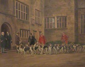 George V Inspecting the Holcombe Hounds at Houghton Tower