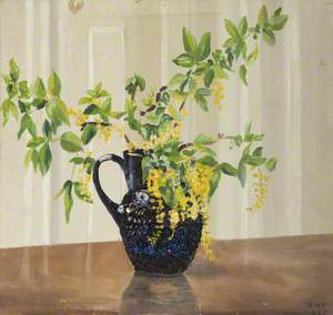 Still Life (Blue Jug with Yellow Flowers)
