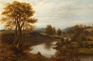 A Man Fishing on a River