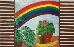 Rainbow with a Plant