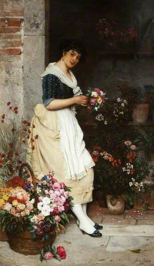 The Italian Flower Girl