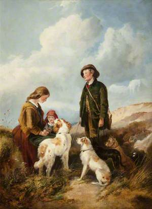 A Boy and a Girl with Hounds