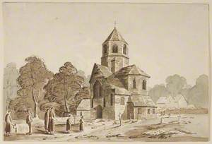 Landscape with Church and Figures