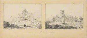 Two Drawings of Churches